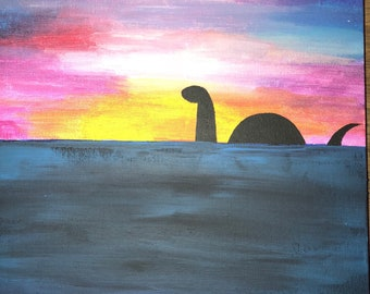 Loch Ness Monster painting
