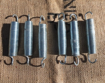 Large, Shiny Metal Springs-for crafts, altered art, assemblage, supplies