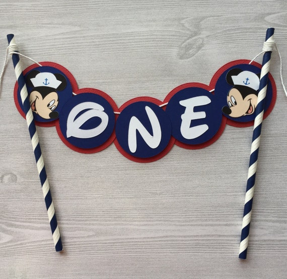 Nautical Mickey Cake Topper Mickey Mouse Cake Decor Mickey