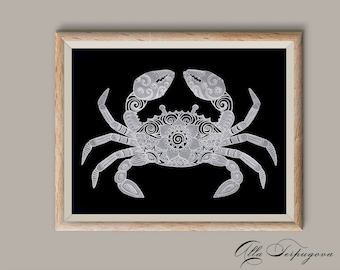 Crab picture exclusive parchment craft art  luxury gift wall art paper laces Wall Hanging Free shipping