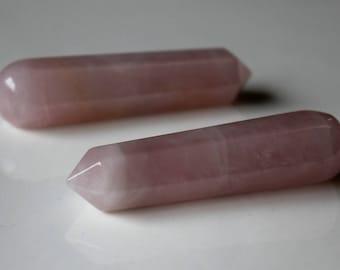 Rose Quartz Massage Wand, Heart Chakra Stone, Rose Quartz Crystal, Rose Quartz Stone, Quartz Wand , Anahata Stone