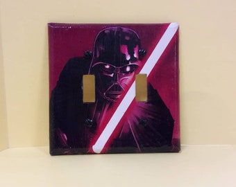 Darth Vader Double Switch Plate