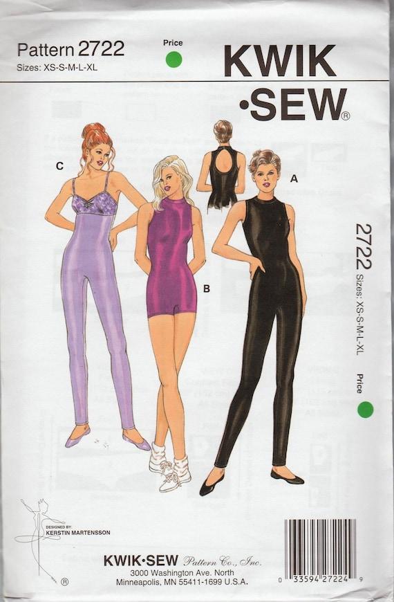 Kwik Sew 2722 Sewing Pattern For Leotards Unitards Shapewear