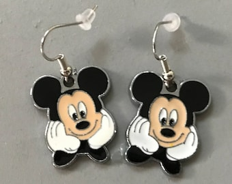 Mickey Mouse Earrings, comes in black and red