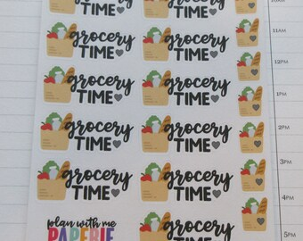 Grocery Shopping Script Planner Stickers
