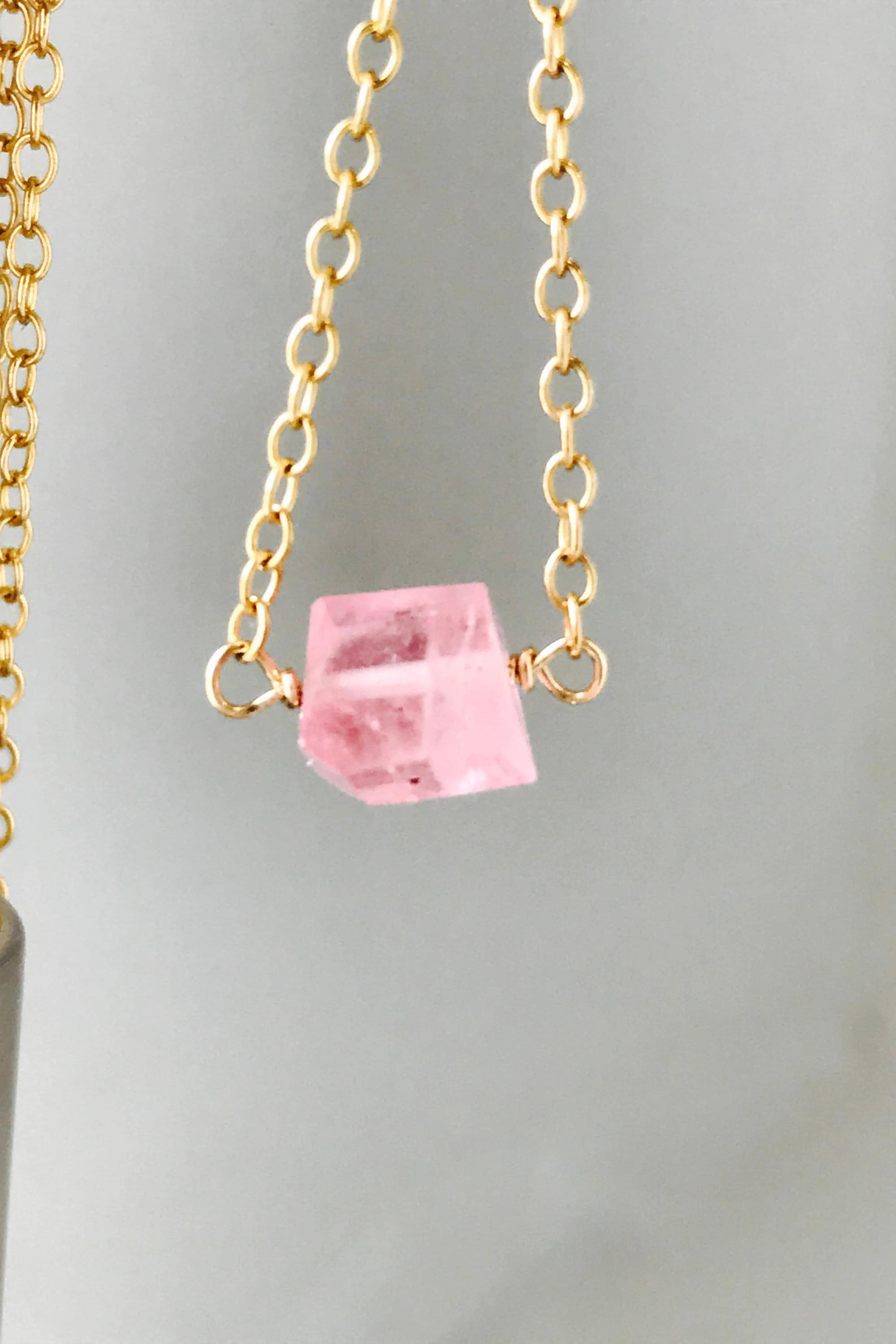 pink tourmaline watermelon necklace pendant store