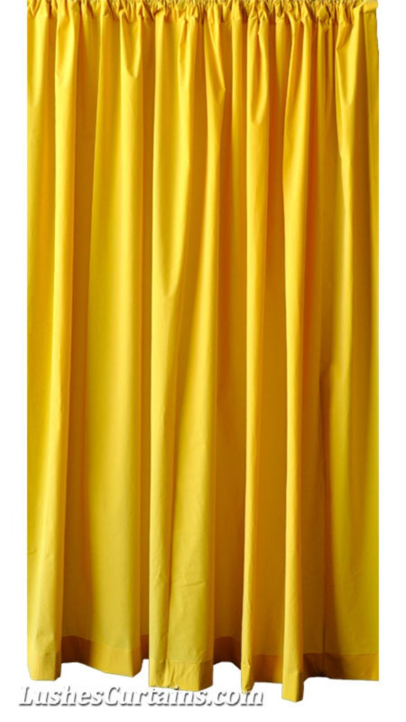 Lovely Bright Solid Yellow Velvet Curtain 96 Inch High Long Panel