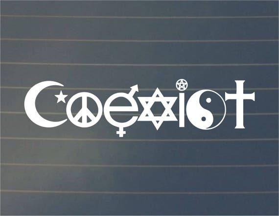 Decal coexist coexist decal car decal spiritual decal