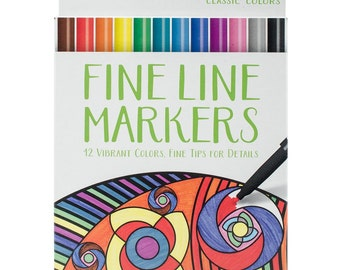 Crayola Fine Line Marker Set  Pkg Classic Colors Great For Adult Coloring