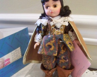 Cyrano madame alexander doll 8 inch with hat