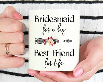 Bridesmaid Gift | Bridesmaid Coffee Mug | Bridesmaid Mug | Gift for Bridesmaid | Maid of Honor Mug | Bridesmaid Proposal | Wedding Gift