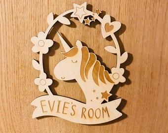 Personalised Children's Bedroom Door / Wall Plaque