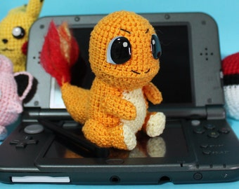 Charmander Plush, Charmander Amigurumi, Crochet Charmander, Pokemon Charmander, Pokemon Plush, Pokemon Amigurumi, Pokemon Gift, Nintendo Toy