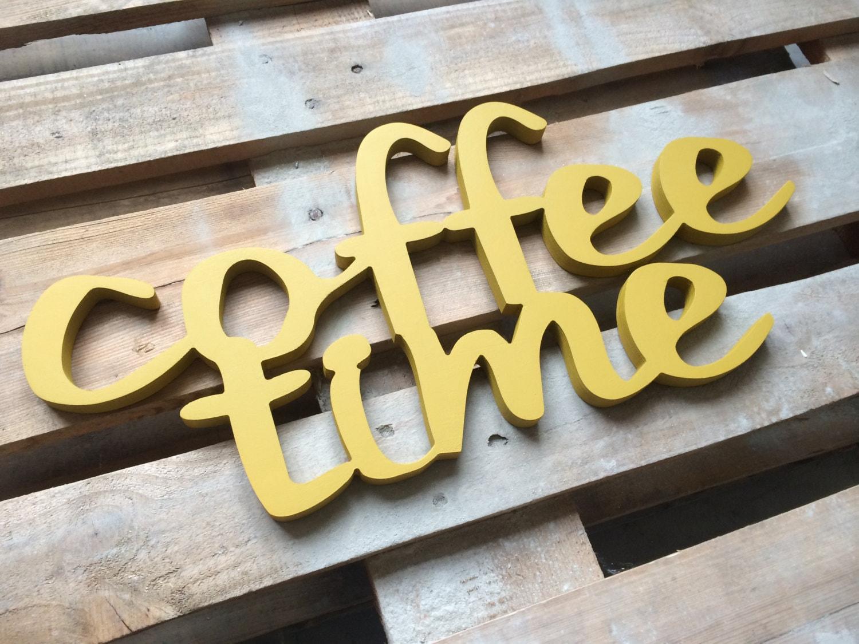 Einmaliges Geschenk Kaffee Zeit Zeichen Schrank Dekor für