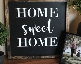 Home Sweet Home - Home Sweet Home Sign - Rustic Home Decor - Home Sign -  Rustic Wooden Sign - Housewarming - Hand Painted Sign - Wood Sign