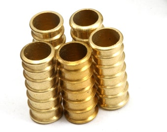10 pcs raw brass 19 x 8 mm (hole 6 mm) industrial brass charms,pendant,findings spacer bead bab6 1230R