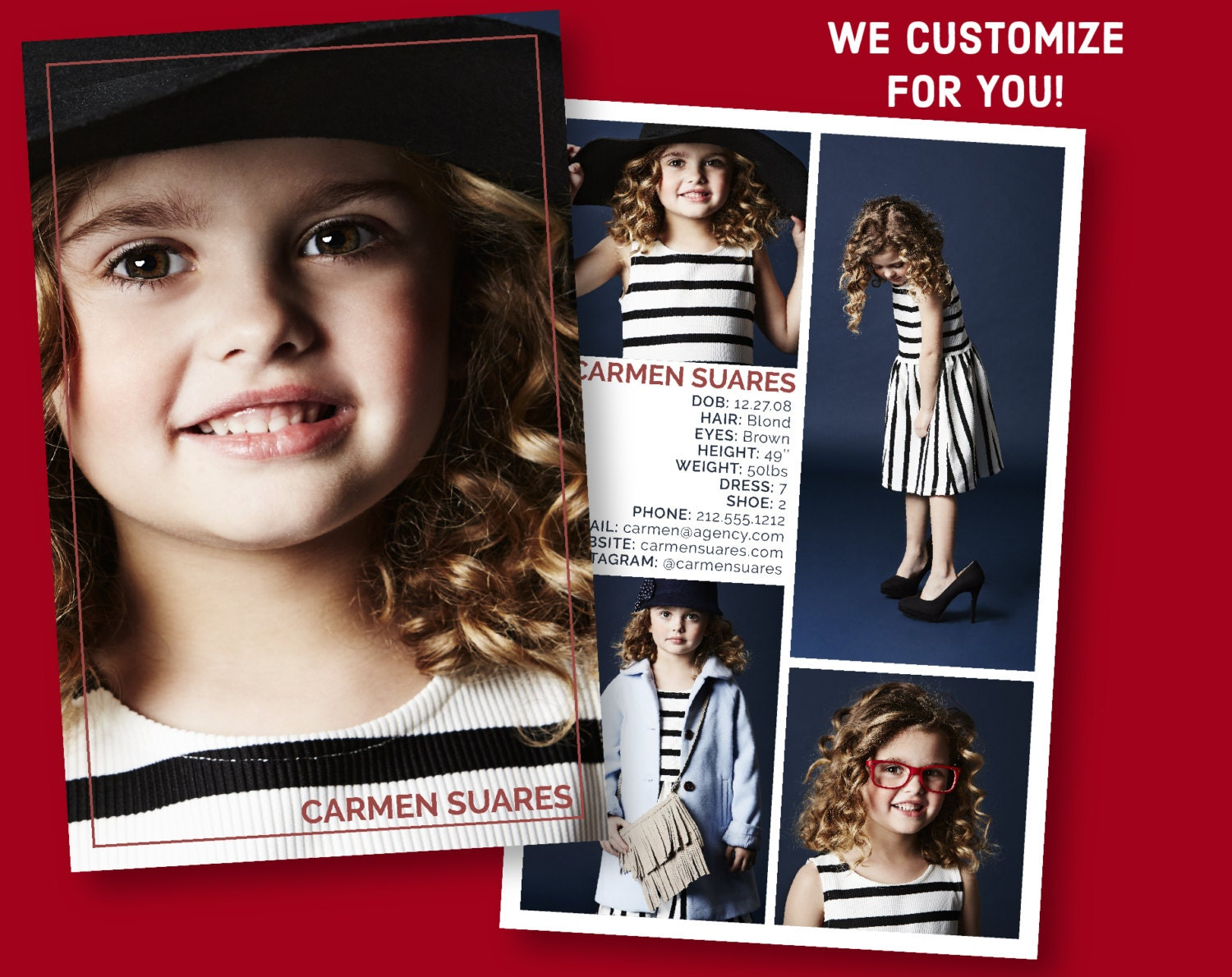 Custom Model Comp Card - Customizable Childrens Sed Card ...
