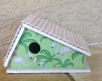 Flamingo  bird house.