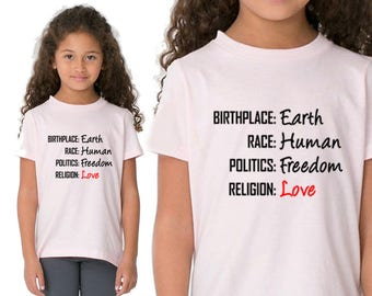 Birthplace Earth, Shirt, T-Shirts, Gift for Boy, Gift for Girl, Gift For Him, Gift For Her, Custom Shirt