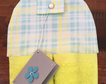 Hanging hand towel - bright lemon towel