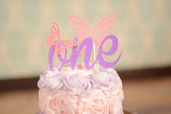 Butterfly cake topper ONE Cake topper Gold one Cake Topper