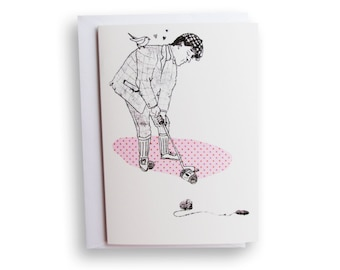 Golfer love card - A6