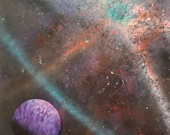 Galaxy and Planet Art