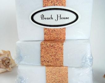 Beach House Soap Bar, Homemade Glycerin Bar Soap