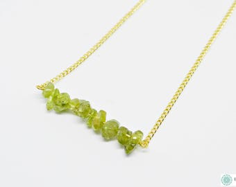 Green Peridot delicate necklace