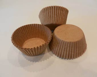 48 Brown Craft Kraft Paper Standard Size Cupcake Liners Cups Cake Decorations Baking Supplies Jenuine Crafts