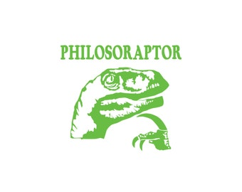 Philosoraptor Sticker