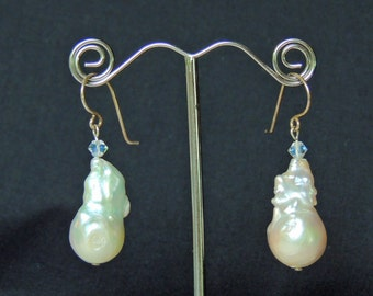 Freshwater baroque pearl earrings
