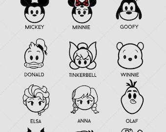 Disney Decals, Disney Decor For The Home, Disney Wall Decal, Disney Wall Art, Mickey Mouse Decal, Minnie Mouse Decal, Goofy Decal, Frozen
