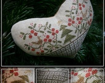 Christmas Heart / Cross stitch pattern