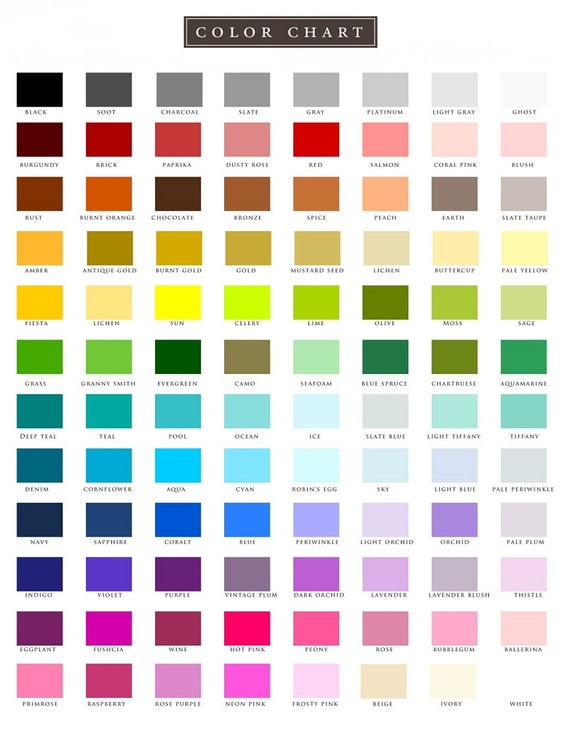 Print Color Chart Image Collections Design For Project