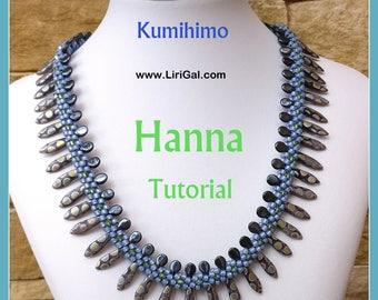 Tutorial Hanna Kumihimo Daggers Necklace PDF