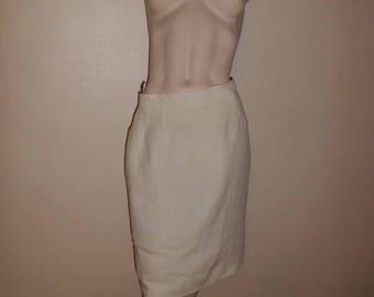 GEORGES RECH T40 linen skirt pencil skirt