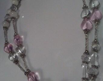 Gift under 25, Beaded ID Necklace, Beaded Badge Holder, Beaded Fashion Lanyard