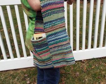 Handwoven Tote Bag, Hand Woven Bag, Book Club Bag, Bible Bag, Handbag, Hand Bag, Weaving, Book Bag, Small Tote Bag, Textured Bag Striped Bag