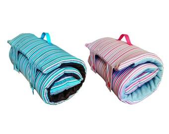 Striped Nap Mat - Nap mat, Toddler Nap mat, Nap Mats for preschool, Fleece Blankets, Kindergarten Nap Mats, Nap Mats for toddlers