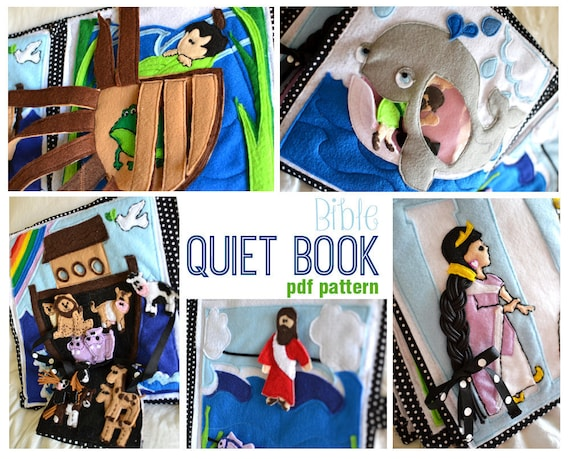 Quiet Book Cover Pattern : Bible quiet book pdf pattern