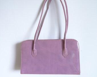 Women's Handbag/ Purple Bag/Bag Wegan Leather/ Tight-shaped Bag/ Shaped Rigid Bag/Vintage Women's Bag
