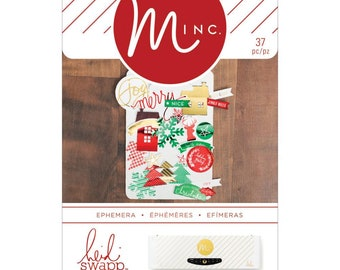 MINC CHRISTMAS EPHEMERA Pack  37 Pieces - Card Makers and ScrapBooking Tool - Brand New -