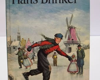 Vintage 1963 Companion Library Hans Brinker and Heidi 2 books in 1