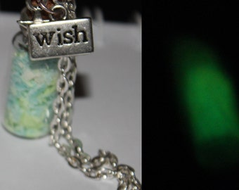Clay wish necklace (glow in the dark)
