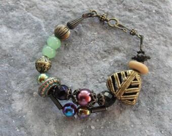 Bohemian Chunyk Bracelet - Beaded Statement Boho Bracelet