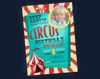 Circus Invitation. Circus Birthday Invitation. Circus Party. Printable Invitation. Circus Themed Party.