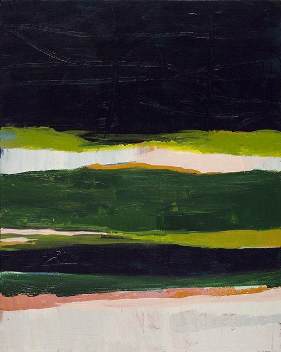Modern Abstract Landscape Print Green