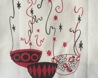 KITCHEN WITCH - Screenprint tea towel kitchen towel