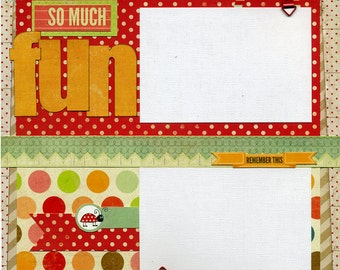 So Much Fun - Premade Scrapbook Page